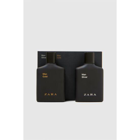 Zara Man Gold  100ml edt + Man Silver  edt 100ml férfi parfüm csomag
